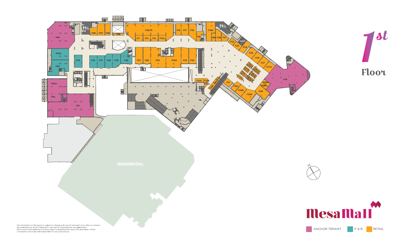 Mesamall floor plans for My floor planner